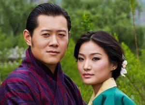 King Jigme Khesar Namgyel Wangchuck with his fiancée Pema. Photo/Kuenselonline.