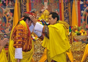 King Jigme Khesar being crowned by his father.